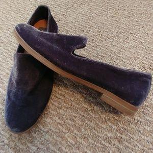 Dolce Vita Gray Velvet Slip On Loafers